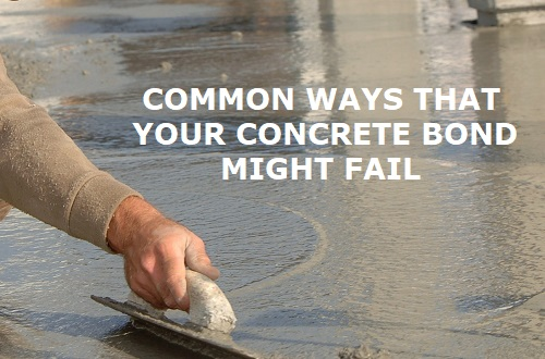 concrete bond failure