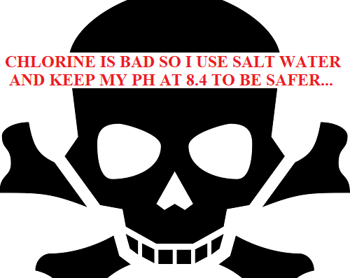 salt water is not safer than chlorine