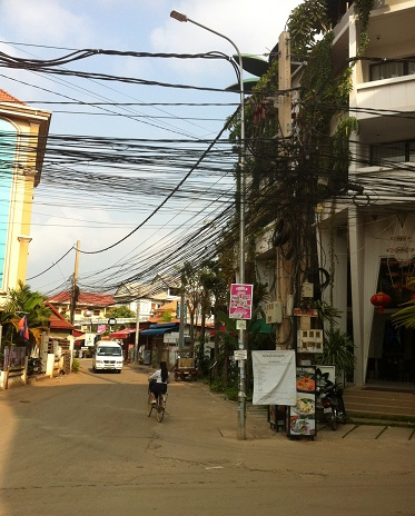 downtown Siem Reap Cambodia