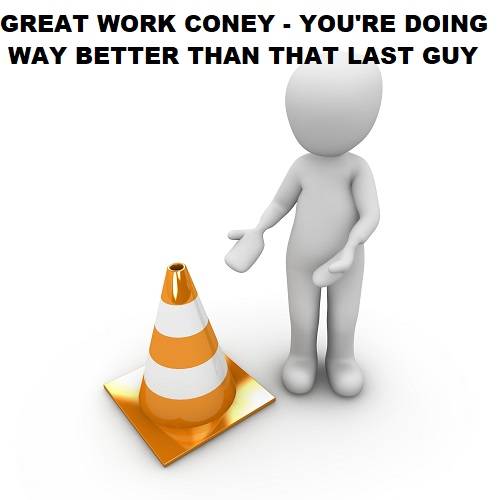 replace employee with a traffic cone