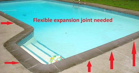 pool coping expansion joint