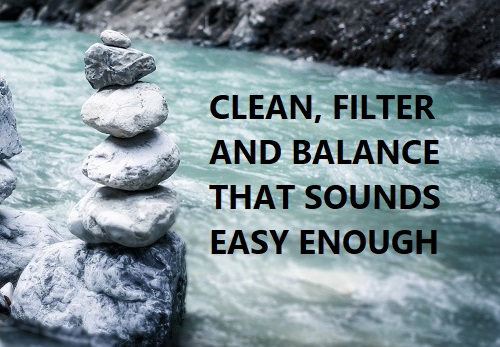 Clean, filter and balance pool water
