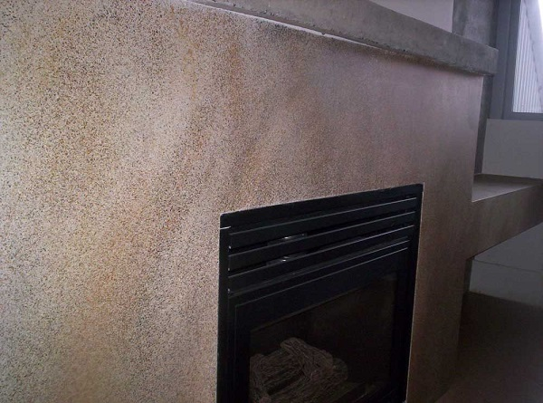 painted drywall fireplace