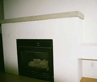 plain drywall fireplace