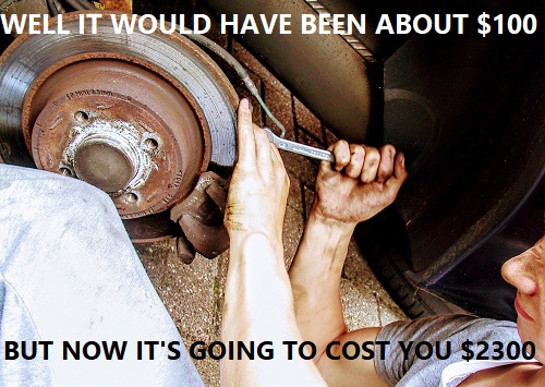 fix it right away or it will cost more