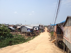 Houses on stilts in Cambodia