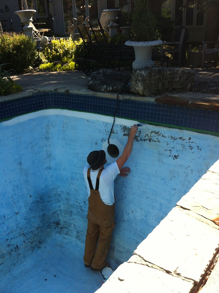 Swimming Pool Cement : How to paint a concrete pool