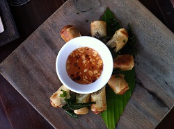 fried spring rolls in Cambodia
