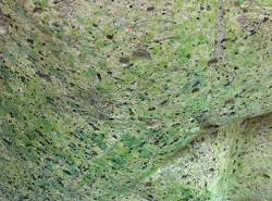 green artificial rock