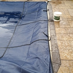 rectangle pool safety cover   installation progress pictures