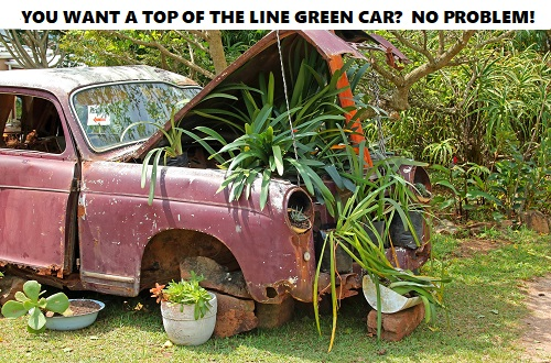 discount green car