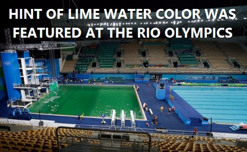 hint of lime green water at Rio Olympics