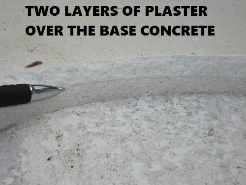two layers of pool plaster