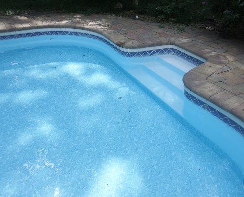 low hung liner pool