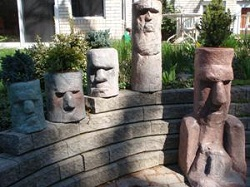 Easter Island Moai Dum Dum Statues