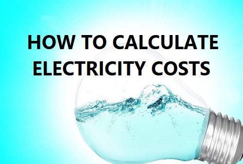 How to calculate electricity costs