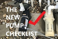 Checklist of items before buying a new pool pump