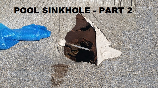 Above ground pool sinkhole part 2