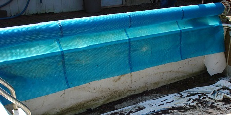 solar blanket for a pool