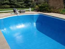 pool liner under vacuum