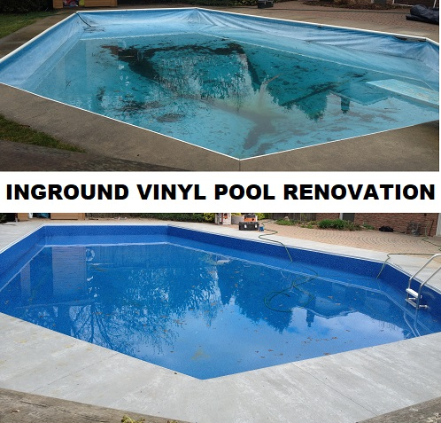 inground vinyl pool renovation