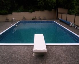 vinyl pool liner after replacement